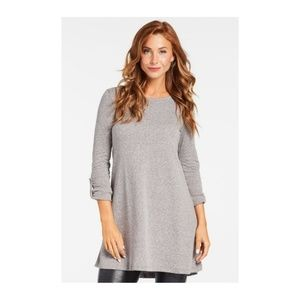 Z Supply Double Knit Symphony Dress Grey Size Med